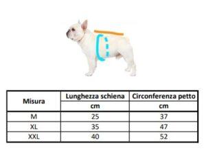 misure The Dog Face felpa cane